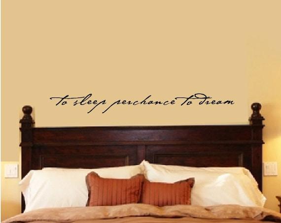 Bedroom Wall Decal Bedroom Decor Shakespeare Quote To Sleep