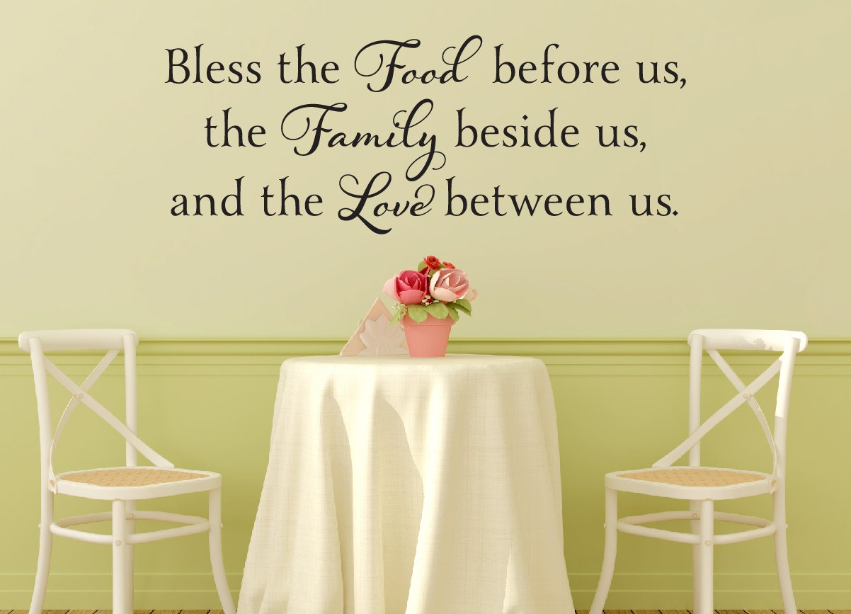 Bless The Food Before Us Wall Decal Dining Room Vinyl | Etsy