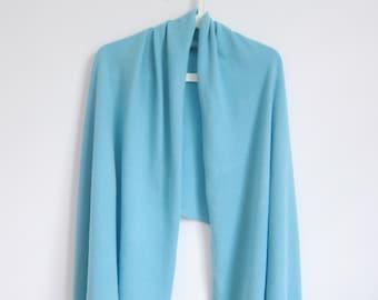 Ready to ship / Blue cashmere long shawl / Cashmere wrap / Cashmere scarf / Shawl / Scarf / Wrap / Blue