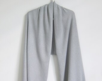 Ready to ship / Cement cashmere long shawl / Cashmere wrap / Cashmere scarf / Shawl / Scarf / Wrap / Cement