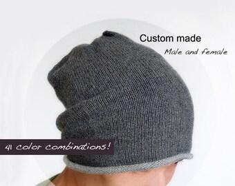 c7c13d9dbc3 Pure cashmere slouchy Hat   Cashmere knit hat   Cashmere hat   Knit hat    Men hat   Women hat   Slouchy Hat   Pure cashmere   Beanie hat