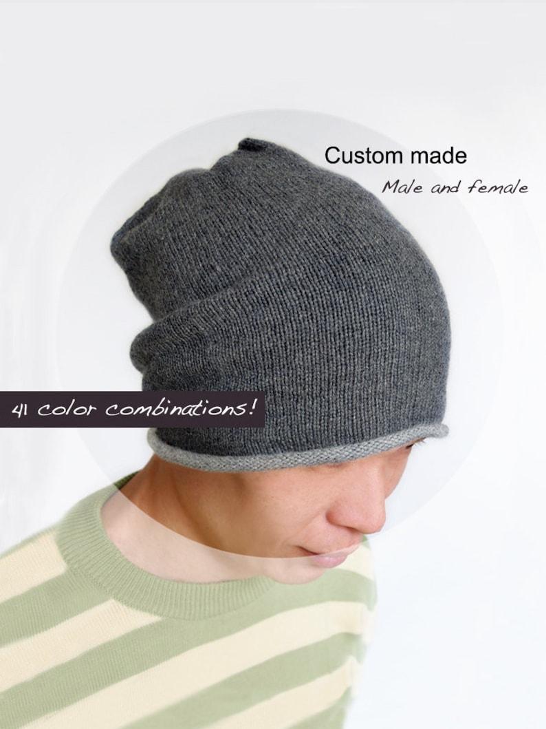 72c964bd34eb1 Pure cashmere slouchy Hat   Cashmere knit hat   Cashmere hat