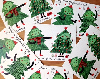 Christmas Postcards Set of 2