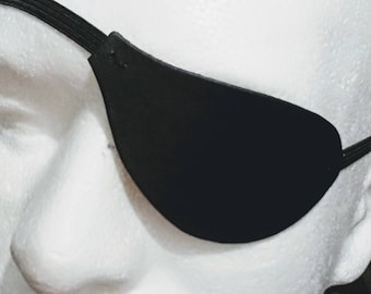 Plain, slim flat leather eyepatch like Polar movie charachter