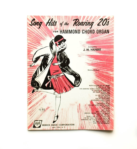 Song Hits Of The Roaring 20s For Hammond Chord Organ Arranged Etsy