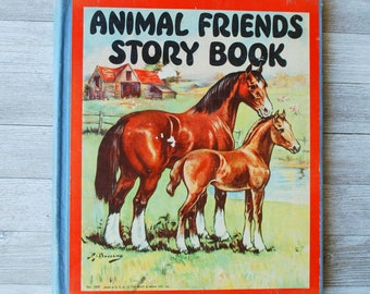 Animal Friends Story Book 1935   by Watty Piper   Vintage Children's Book   Nursery   The Platt & Munk Co.