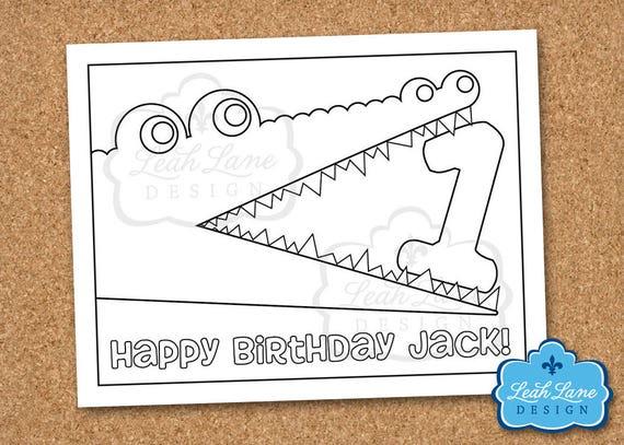 Cocodrilo cocodrilo pantano niños a cumpleaños | Etsy