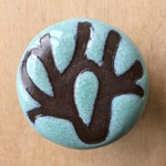 1 Cabinet knob , 1.5in , Turquoise Modern Floral