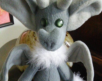 Little Grull the Gargoyle Plush Art Doll Familiar