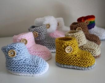 Tiean Baby Girl Rainbow Soft Sole Snow Crib Boots 12