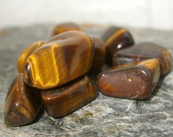 Stones, Tumbled Stones, Tumbled and Polished Tiger's Eye, 1/4# for Meditation and Metaphysical Work - Reiki, Crystal Healing