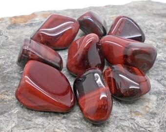 Stones, Tumbled Stones, 1/4# Tumbled and Polished Red Tiger's Eye Stones - Polished Stones, Tumbled Stones, Chakra, Reiki
