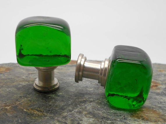 Green Glass Cabinet Knobs And Drawer Pulls: Knobs Glass Knobs Cabinet Knobs Green Glass Cube Cabinet