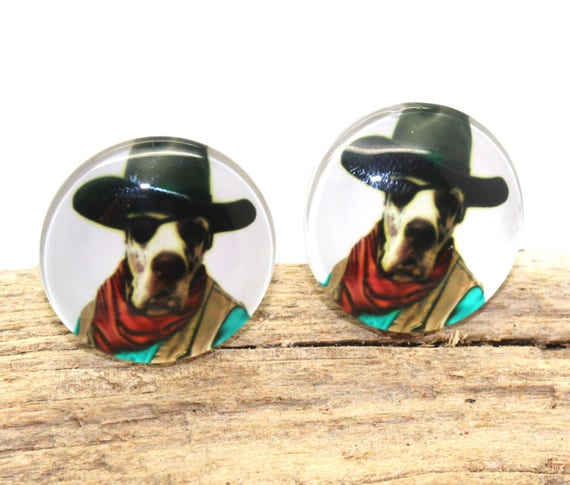 Cabinet Knobs Cowboy Dog Knobs Set Of 2 Mancave Cabinet   Etsy