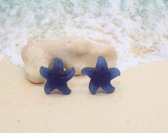 STARFISH Sea Glass Knobs, Cabinet Knobs, Starfish Knobs - Set of 2, Beach Decor, Starfish, Beach Decor, Beach Cottage Decor