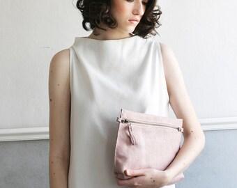 Small Leather Bag, Pink Purse, Women Crossbody Bag, Leather Purse, Small Leather Clutch, Handbag