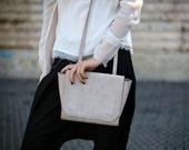 Clearance! Small Leather Shoulder Bag, Mini Purse, Cross Body Handbag, CrossBody Bag, Shoulder Handbag - Beige Blur