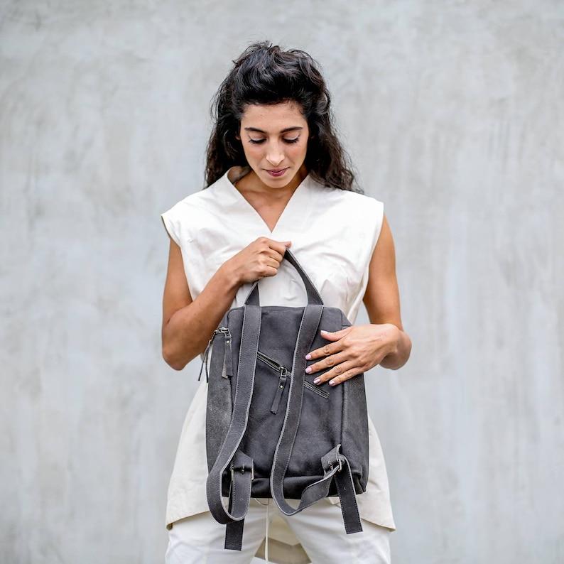 Leather Backpack Women Soft Backpack Black Backpack Purse Small Leather Backpack Mini Backpack