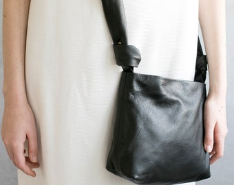 Small Leather Bag, Minimalist Leather Clutch, Evening Bag, Small Shoulder Bag