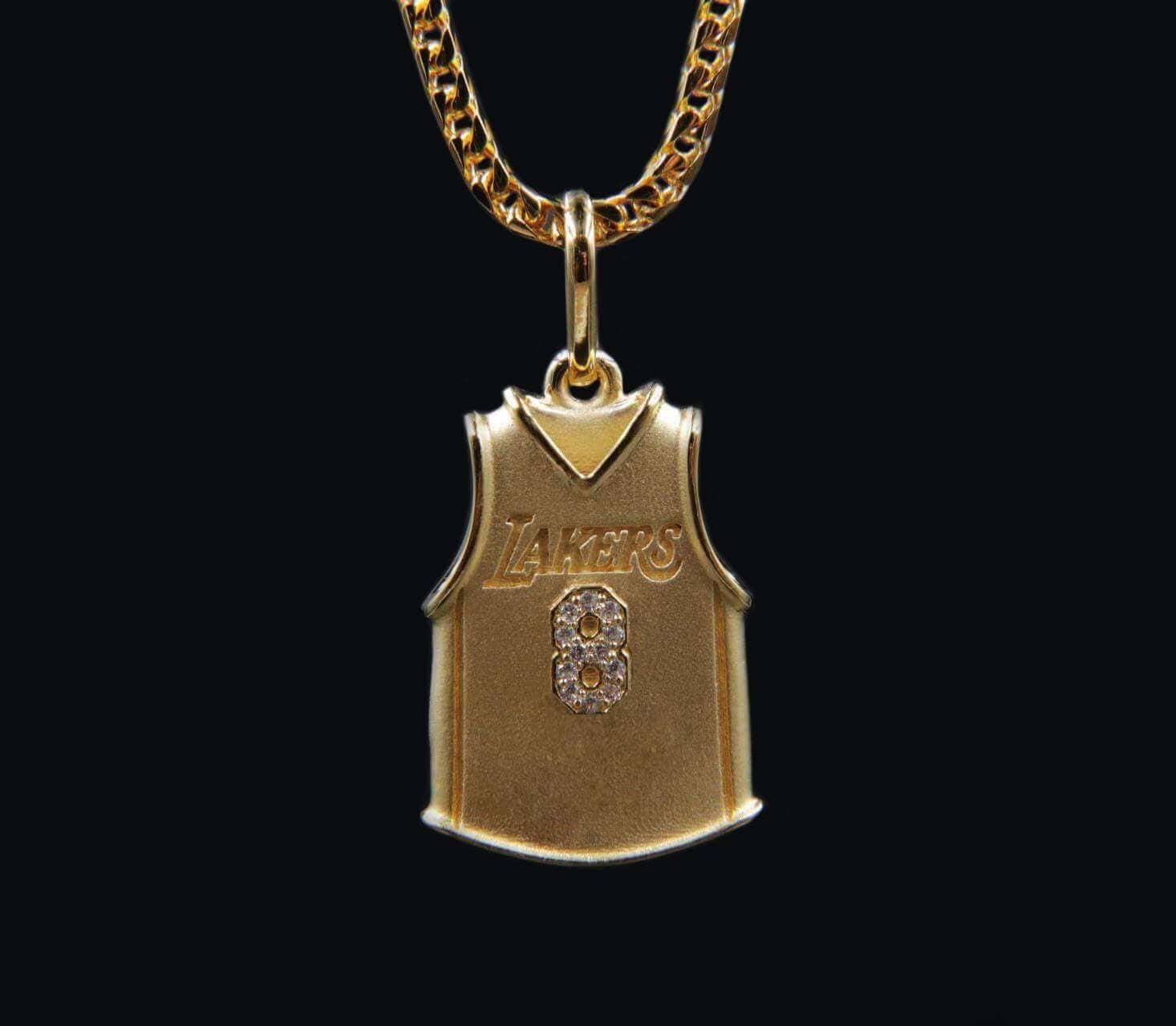 Gold Kobe Jersey Pendant