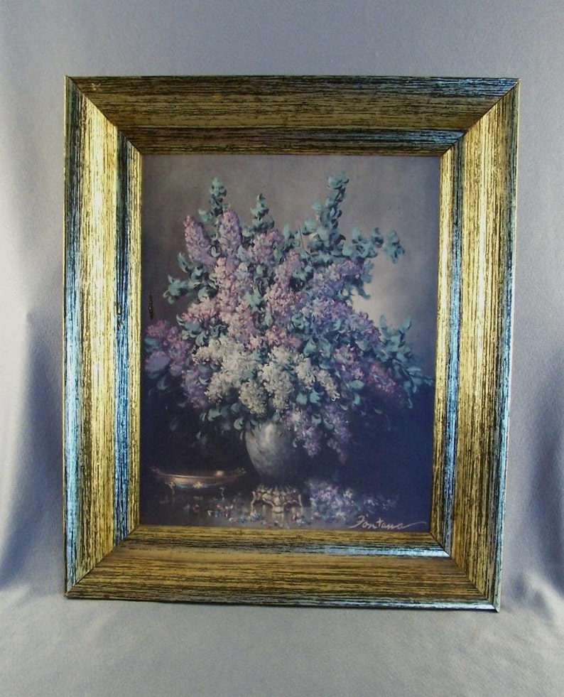 Picture Frame for New Paintings  Pictures  Craft Supply  Re-Purposing  Golden Antiqued Look