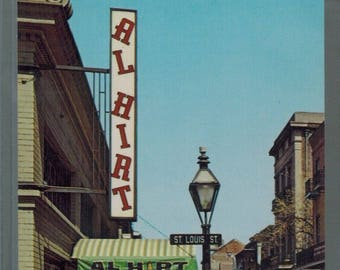 Vintage Al Hirt's New Orleans Louisiana French Quarter Unused Postcard