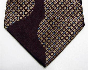 Vintage FC Tie Polyester 1970s Geometric