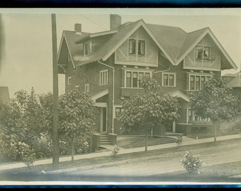 Antique VICTORIAN MANSION Real Photo Postcard 1904 to 1920s Unknown Location