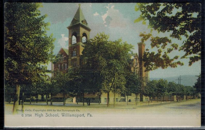 Williamsport Pennsylvania High School Antique Postcard Undivided Back 1905 Unused