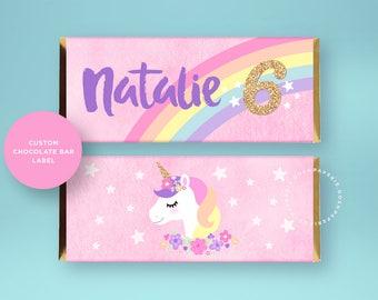 Unicorn Candy Bar Label. Unicorn Candy Bar Wrapper. Unicorn Favors. Unicorn Birthday Party. Unicorn Party supplies. Unicorn Party.