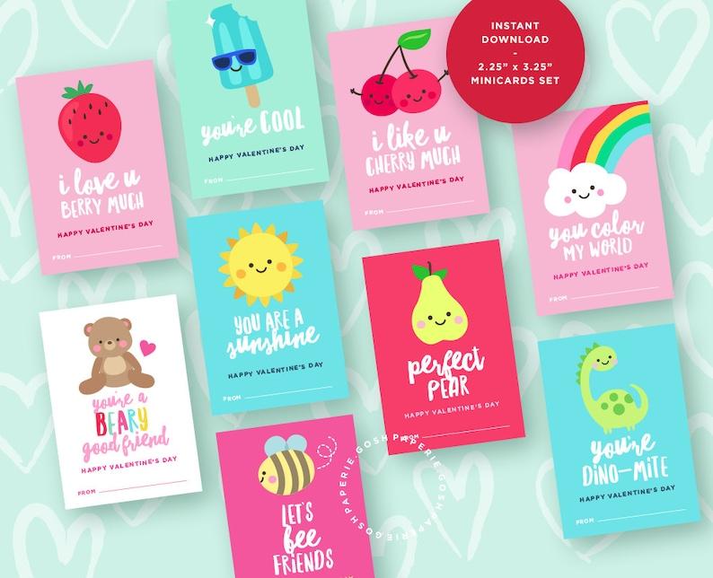 Valentine Cards For Kids Valentines Day Cards Kids Valentine Etsy