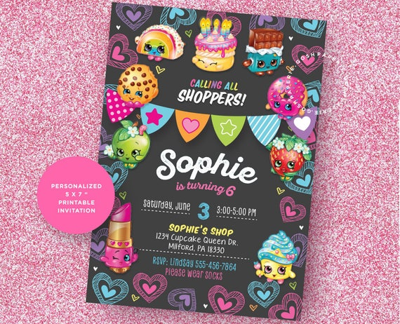 picture regarding Shopkins Printable Invitations known as Shopkins Invitation, Shopkins Invite, Shopkins Celebration