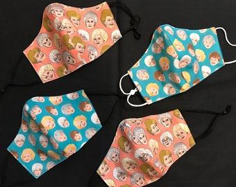 Golden Girls Handmade cotton fabric Mask - Two Layers