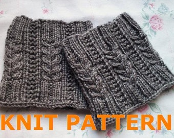 KNIT PATTERN-- Melissa's Cabled Boot Cuff