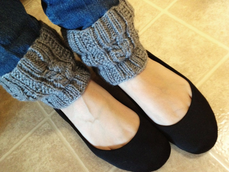 KNIT PATTERN Melissa's Cabled Boot Cuff   Etsy