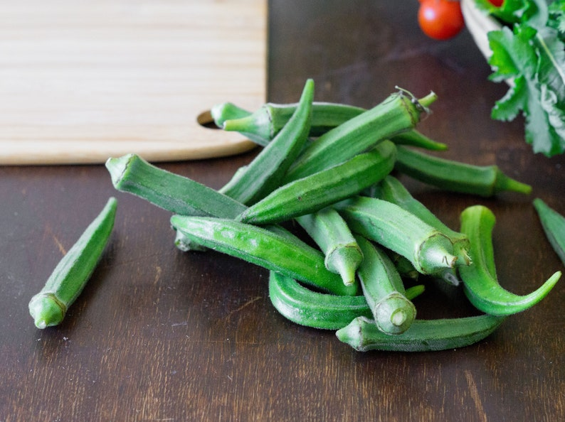 Okra 100 Seeds Clemson Spineless Non Gmo Heirloom Colorful Etsy