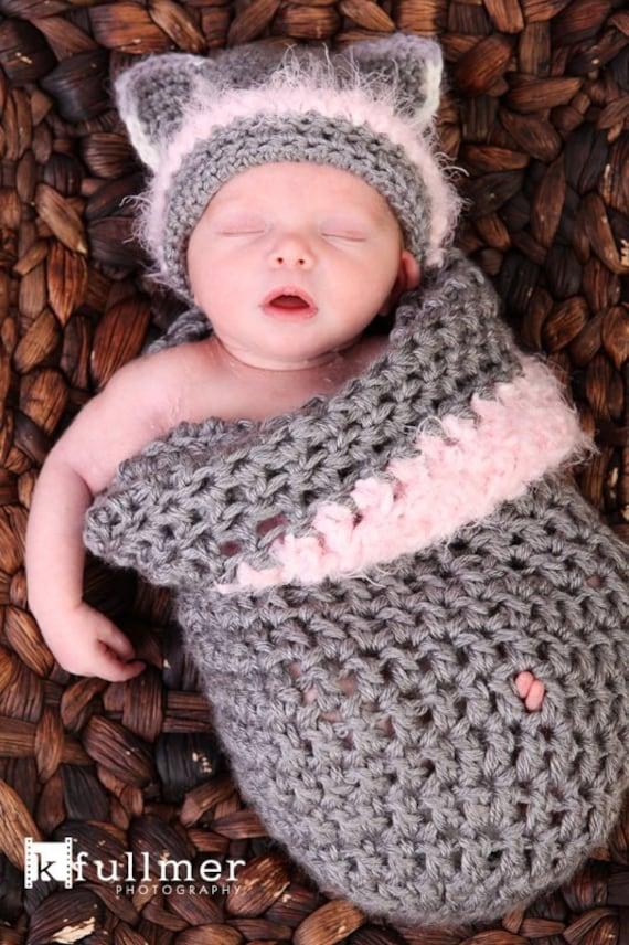 Baby cocoon pattern/cat cocoon hat pattern/newborn cocoon pattern ...