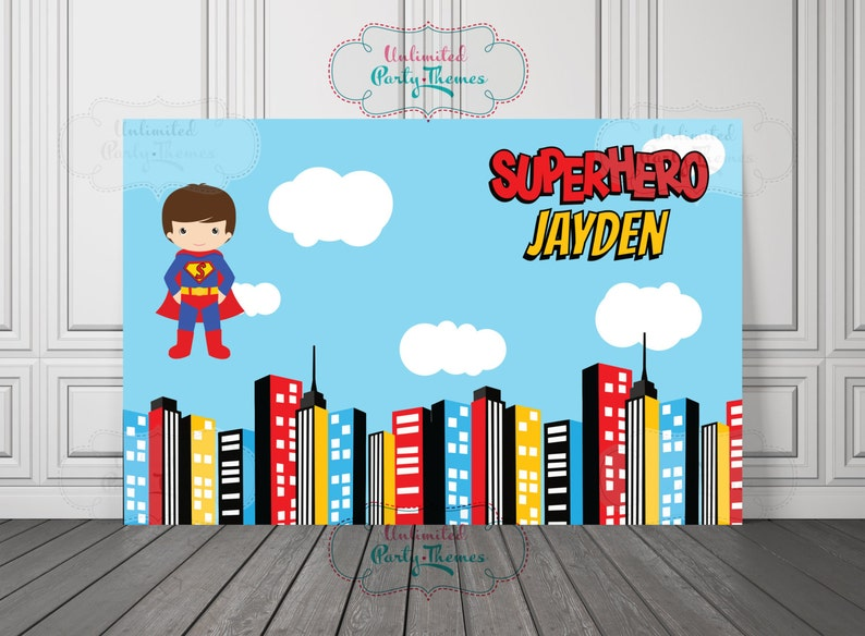 PRINTED, Superman Birthday Banner, Superhero Party Decorations, Birthday  Backdrop, Cake Table, Poster, Party Sign, Super Kid