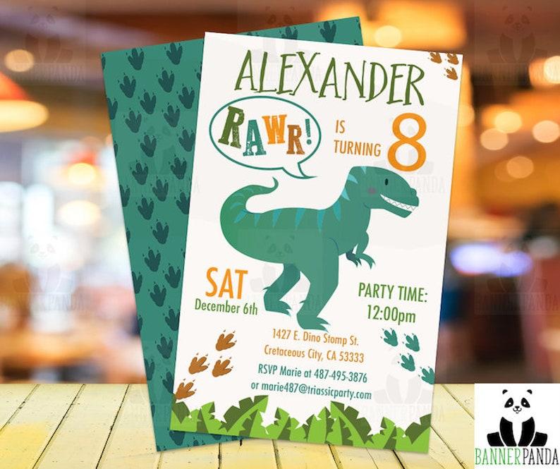 Dinosaur Birthday Invitation PRINTED Party