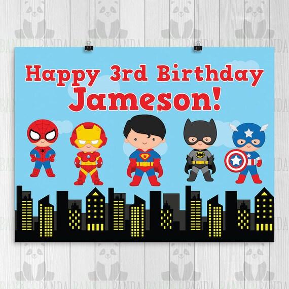 Batman Superhero Children/'s Birthday Party Hanging Swirls Banner Decoration