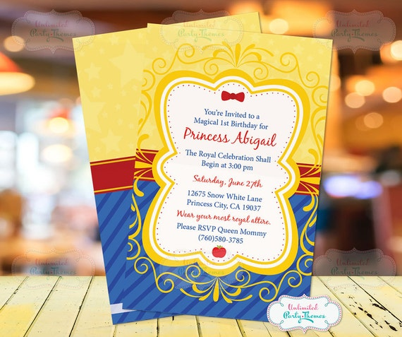 Snow White Birthday Invitation 1c61454bd