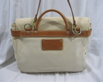 6e05ceff9782 Genuine vintage Polo Ralph Lauren Country off white canvas flap mail bag  messenger