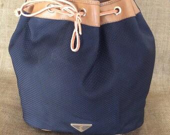 36de4c494922 Genuine vintage Yves Saint Laurent YSL black drawstring shoulder bag