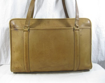 c8165f82e460 Genuine vintage COACH Leatherware natural tan business leather tote bag  travel work tote 80s USA