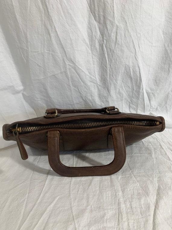 Genuine COACH Bonnie Cashin brown leather portfol… - image 3