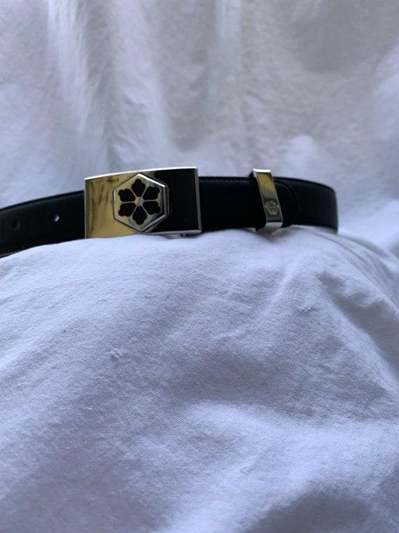 Genuine vintage GIANNI VERSACE black leather belt