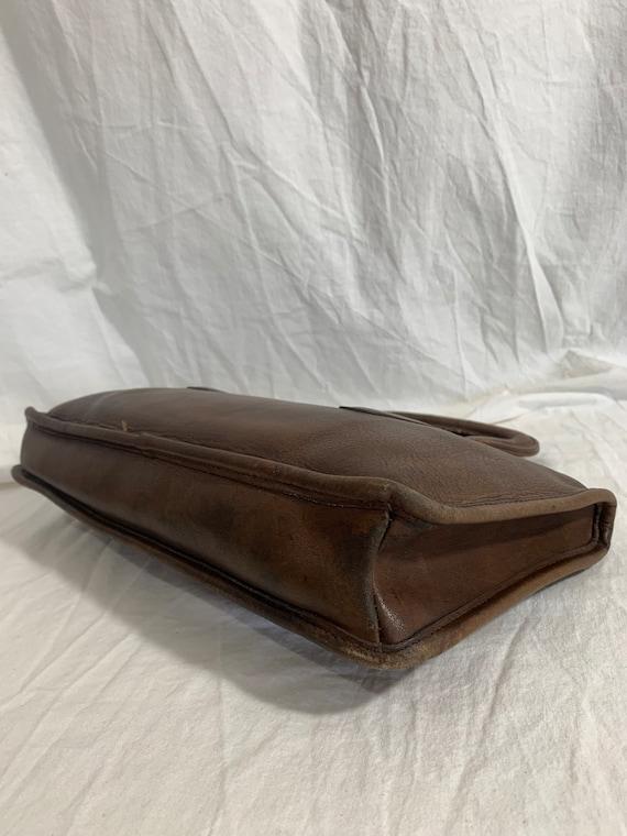 Genuine COACH Bonnie Cashin brown leather portfol… - image 4