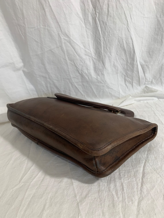 Genuine COACH Bonnie Cashin brown leather portfol… - image 5