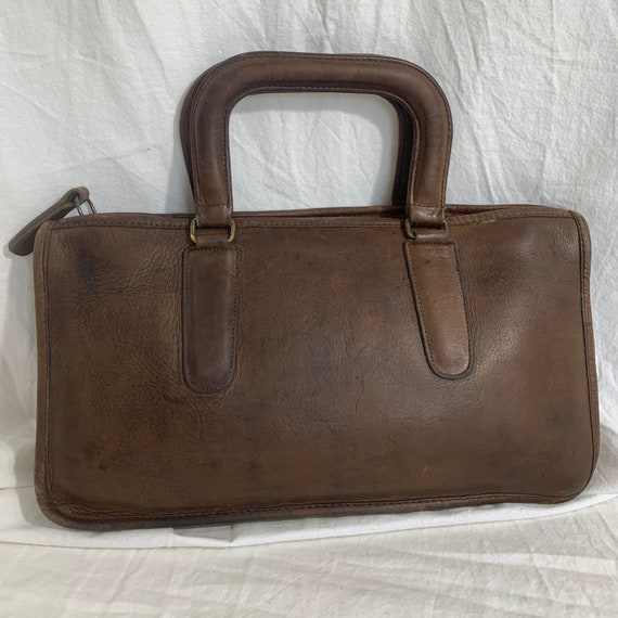 Genuine COACH Bonnie Cashin brown leather portfoli