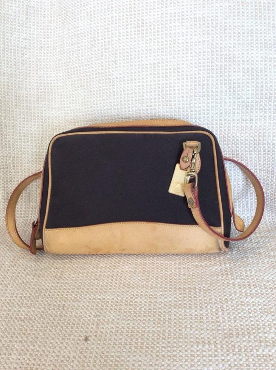 585ee2038d0b Vintage DOONEY   BOURKE brown and tan leather cross body bag